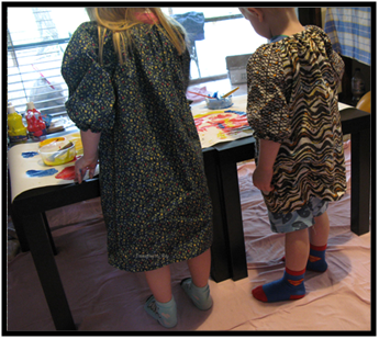 Children and Art Smock Activities